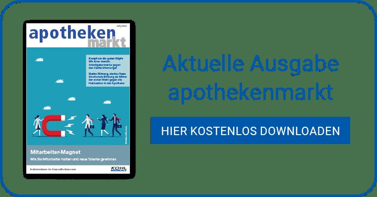 Aktuelle Ausgabe apothekenmarkt