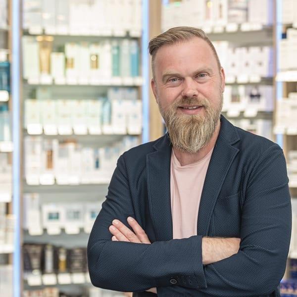 Silvan Gutersohn, Apotheker in der Apotheke Gutersohn, Rhede