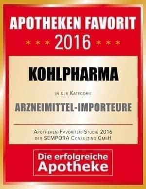 """Auszeichnung """"Apotheken-Favorit"""" in der Kategorie Arzneimittelimporteure"""