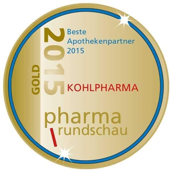 kohlpharma - beste Apothekenpartner 2015 Auszeichnung